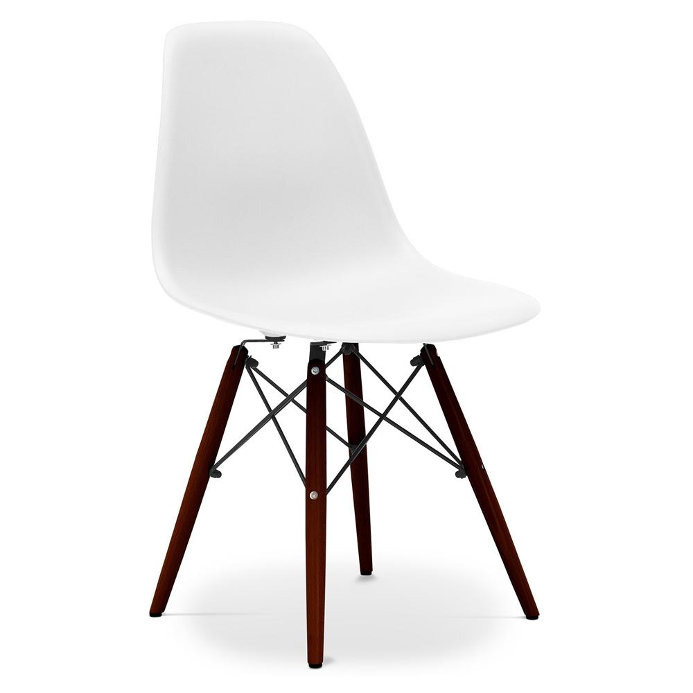 Geneva scandinavian design chair with cushion plastic matt for Eames stuhl imitat