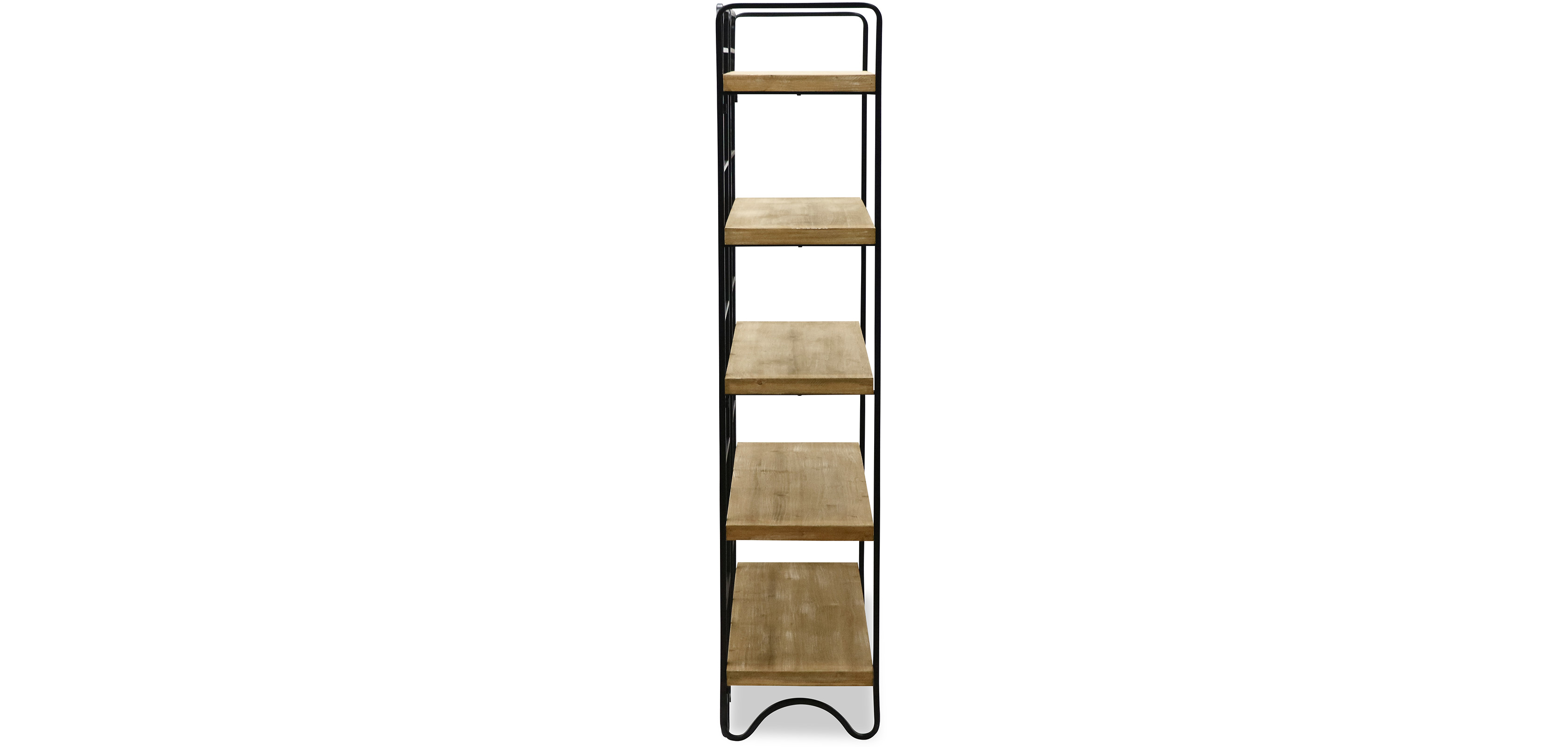 bookshelf of back brown awesome solid four coaster bookcase tier bookcases iron furniture corner product metal simple and wood shelf in