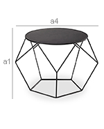 Diamond Side Table - Diemensions