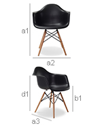 Darwick Chair - PP Matt - Dimensions
