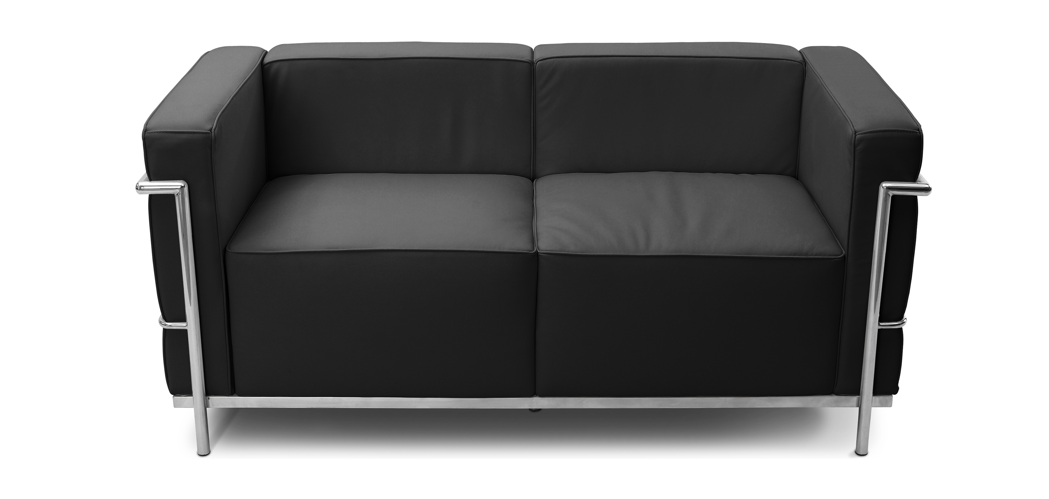 Sofa LC3 Charles Le Corbusier 2 seats Faux Leather