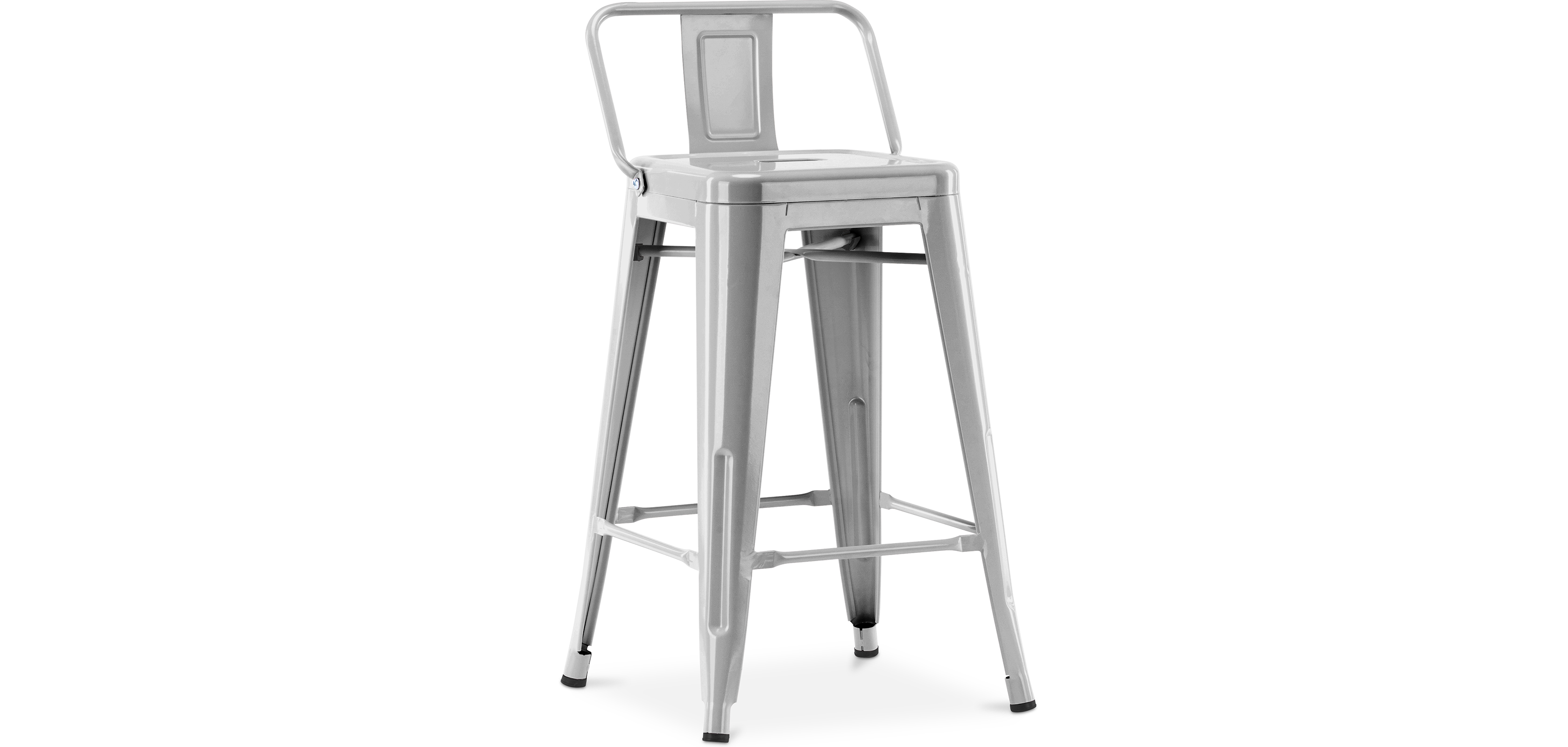 Tolix Stool With Small Backrest Xavier Pauchard Style 60cm