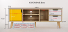 Buy TV unit sideboard Aren - Wood Yellow 59660 with a guarantee