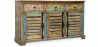 Buy Vintage Large recycled wooden sideboard - Seaside Multicolour 58500 home delivery