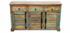 Buy Vintage Large recycled wooden sideboard - Seaside Multicolour 58500 - prices