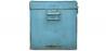 Buy Industrial vintage design locking trunk Blue 58326 in the Europe