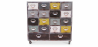 Buy Vintage industrial chest of drawers with wheels Multicolour 27793 - in the EU