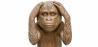 Buy 'Monkey Hears No Evil' decorative design sculpture Brown 58447 home delivery