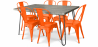 Buy Grey Hairpin 150x90 Dining Table + 6 Tolix Pauchard Style Chair Orange 59924 at Privatefloor