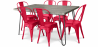 Buy Grey Hairpin 150x90 Dining Table + 6 Tolix Pauchard Style Chair Red 59924 in the Europe
