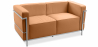Buy Design Sofa Kart3 (2 seats)  - Premium Leather Light brown 13236 in the Europe