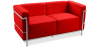 Buy Design Sofa Kart3 (2 seats)  - Premium Leather Red 13236 - in the EU