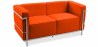 Buy Design Sofa Kart3 (2 seats)  - Premium Leather Orange 13236 - prices