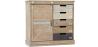 Buy Wooden vintage industrial style sideboard Natural wood 58850 - in the EU
