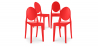 Buy Victoria  Chair - Pack of 4 Red 16459 in the Europe