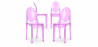 Buy Victoria  Chair - Pack of 4 Purple transparent 16459 with a guarantee