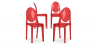 Buy Victoria  Chair - Pack of 4 Red transparent 16459 - in the EU