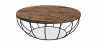 Buy Els industrial round coffee table - Wood and metal Natural wood 59283 - in the EU