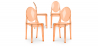 Buy Victoria  Chair - Pack of 4 Orange transparent 16459 home delivery