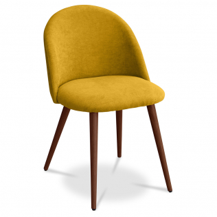 Buy Premium Evelyne Dining Chair - Dark legs Yellow 58982 in the Europe