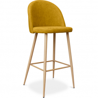 Buy Premium Evelyne bar stool scandinavian style - 76cm Yellow 59356 in the Europe