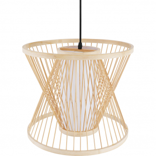 Buy Boho Style Bamboo Wooven Pendant Lamp Natural wood 59850 in the Europe