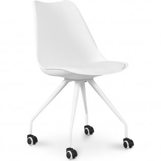 Buy Scandinavian Office chair with Wheels - Canva White 59904 - in the EU