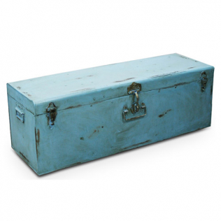 Buy Industrial vintage design locking trunk Blue 58326 - in the EU