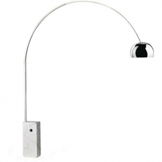 Buy Arc Style Marble Lamp - Square base Black 13692 - prices