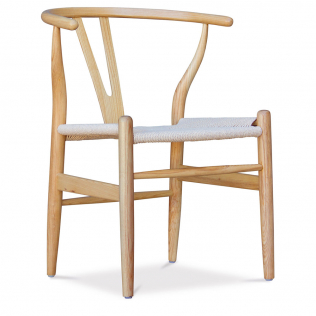 Buy Wish desing chair CW24 - Natural Seat Black 99916432 with a guarantee