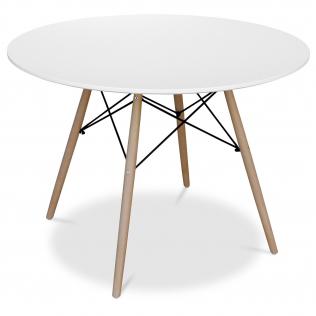Buy Deswick Table 100cm - Wood White 58220 at Privatefloor
