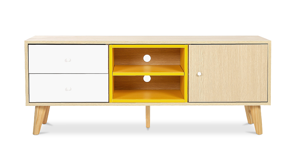 Buy TV unit sideboard Daven - Wood Yellow 59657 - in the EU