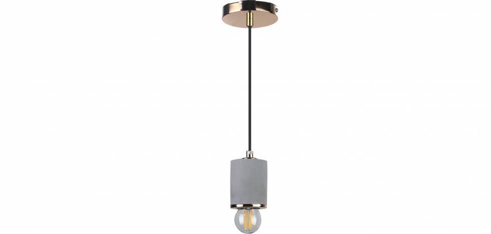 Buy Felippo hanging lamp - Metal and concrete Gold 59582 - in the EU