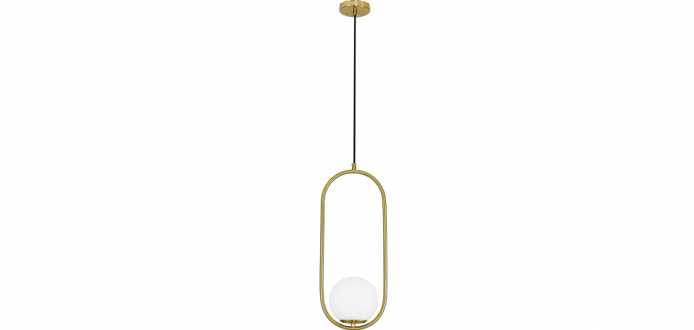 Buy Ruby Hanging Lamp - Metal and Glass Gold 59624 - in the EU