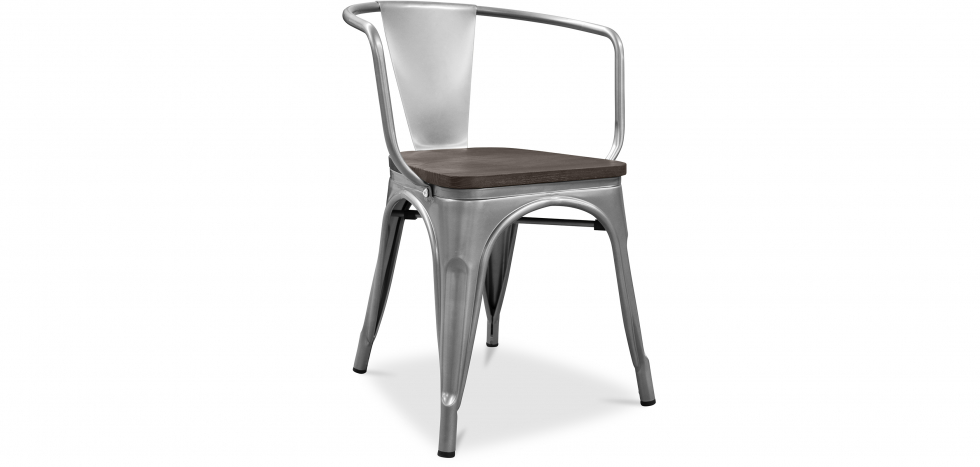 Buy A56 Tolix Armchair Wooden Pauchard Style New edition - Metal Steel 59810 - in the EU