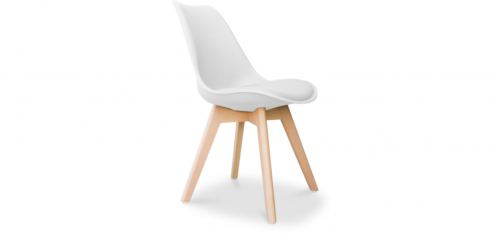 Buy Deswick Scandinavian design Premium Chair with cushion  White 58293 - in the EU