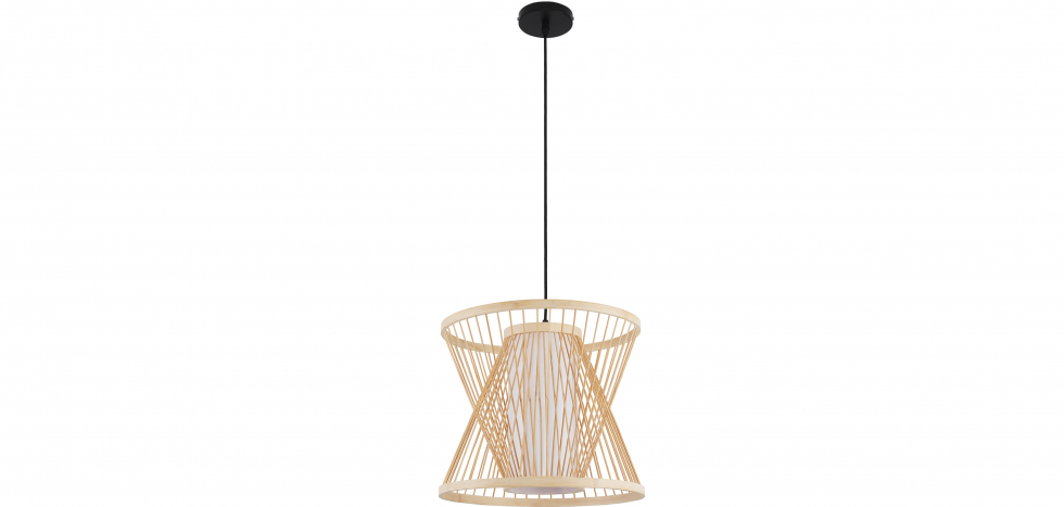 Buy Boho Style Bamboo Wooven Pendant Lamp Natural wood 59850 - in the EU