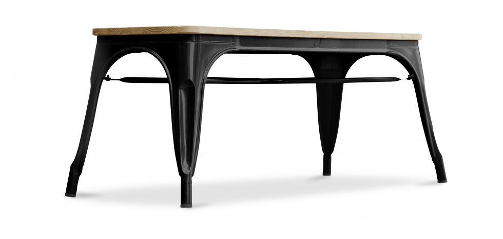 Buy Style Tolix Bench - Light Wood Black 59873 - in the EU