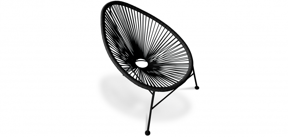 Acapulco Chair - Black Legs - Black