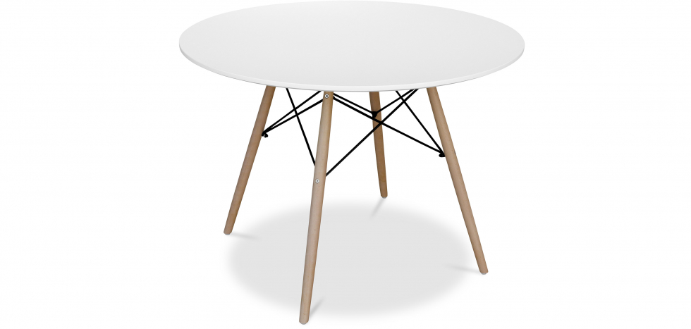 Buy Deswick Table 100cm - Wood White 58220 - in the EU
