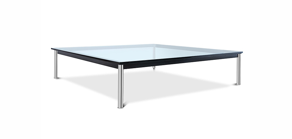 Buy Glass coffee table LC10 Style Le Corbusier Steel 13299 - in the EU
