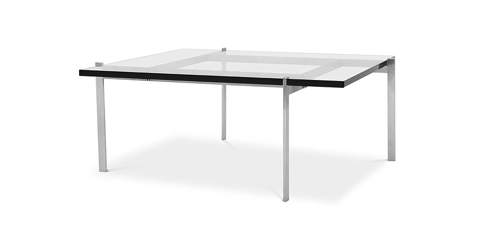 Buy PY61 Coffee table - Square - 19mm Glass Steel 16321 - in the EU