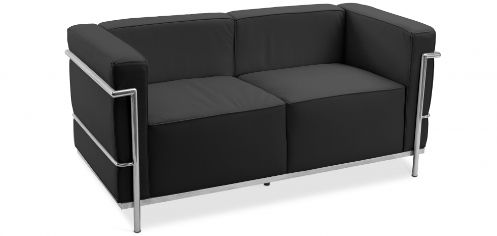 Buy Design Sofa Kart3 (2 seats)  - Premium Leather Black 13236 - in the EU