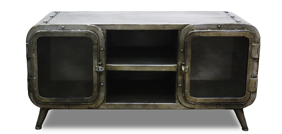 Buy Industrial Antique Vintage Style TV Cabinet - Grange & Co. - Iron Steel 54023 - in the EU