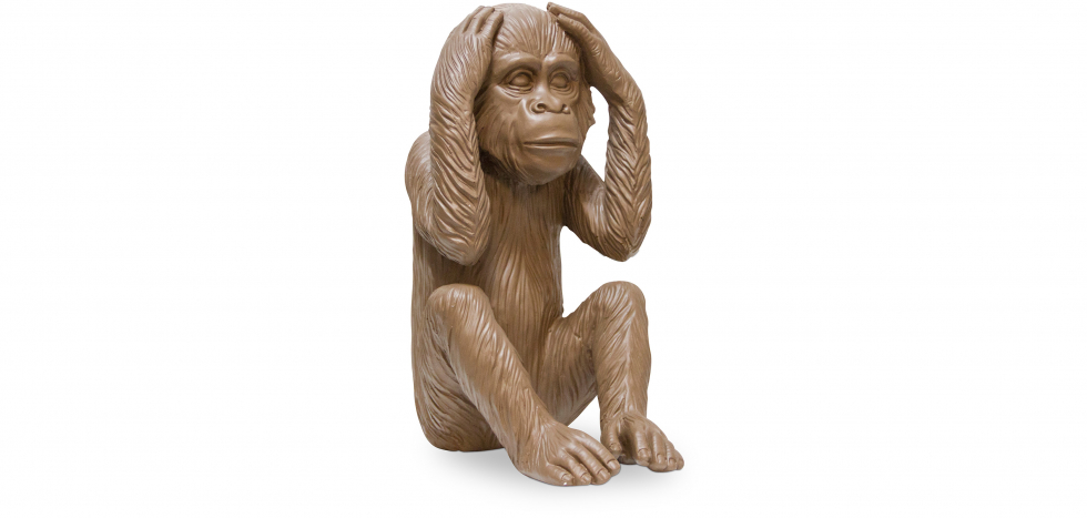 Buy 'Monkey Hears No Evil' decorative design sculpture Brown 58447 - in the EU