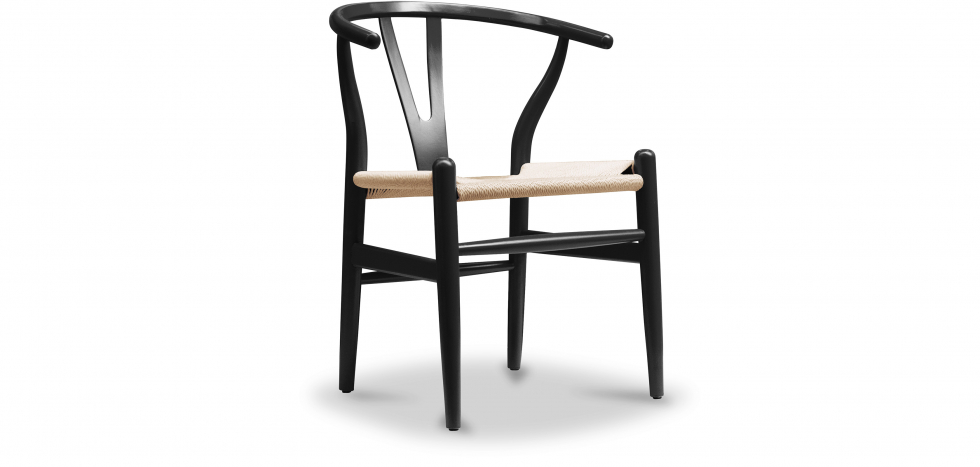 Buy Wish desing chair CW24 - Natural Seat Black 99916432 - in the EU