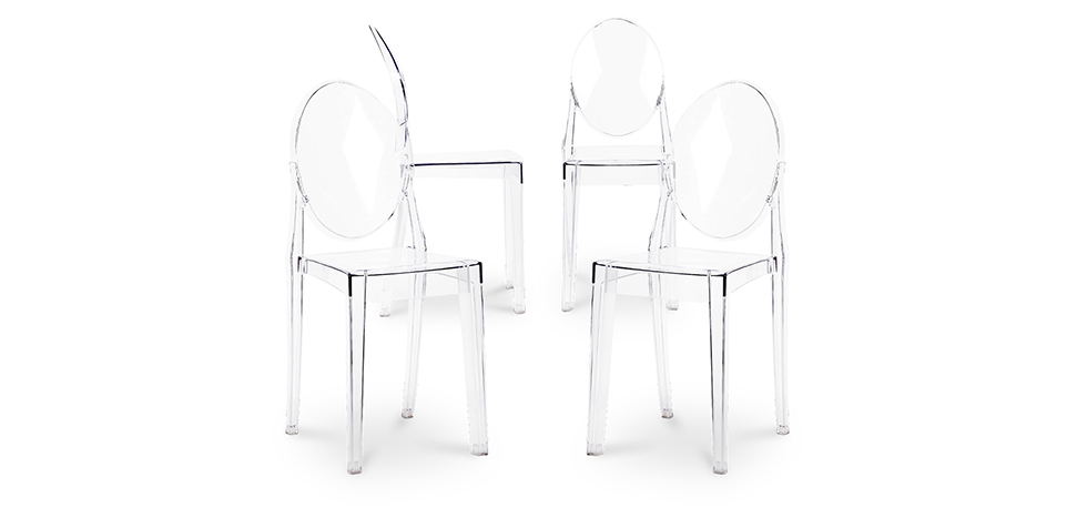 Buy Victoria  Chair - Pack of 4 Transparent 16459 - in the EU