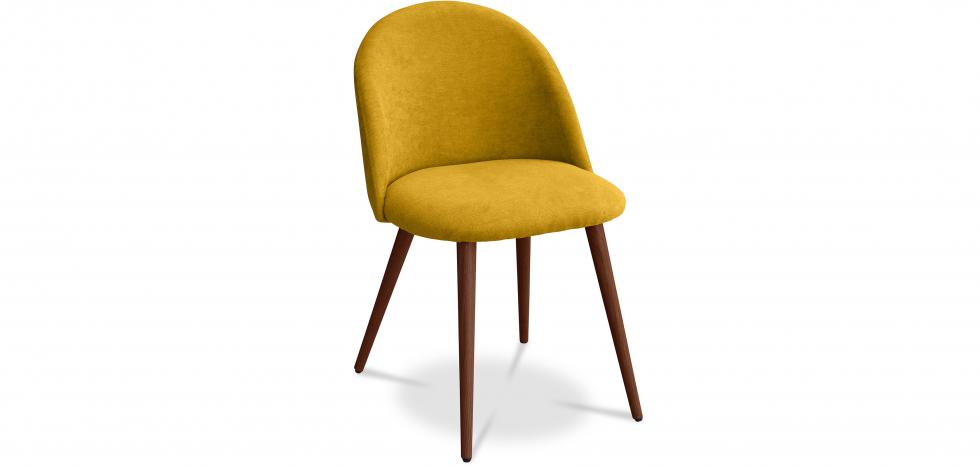Buy Premium Evelyne Dining Chair - Dark legs Yellow 58982 - in the EU