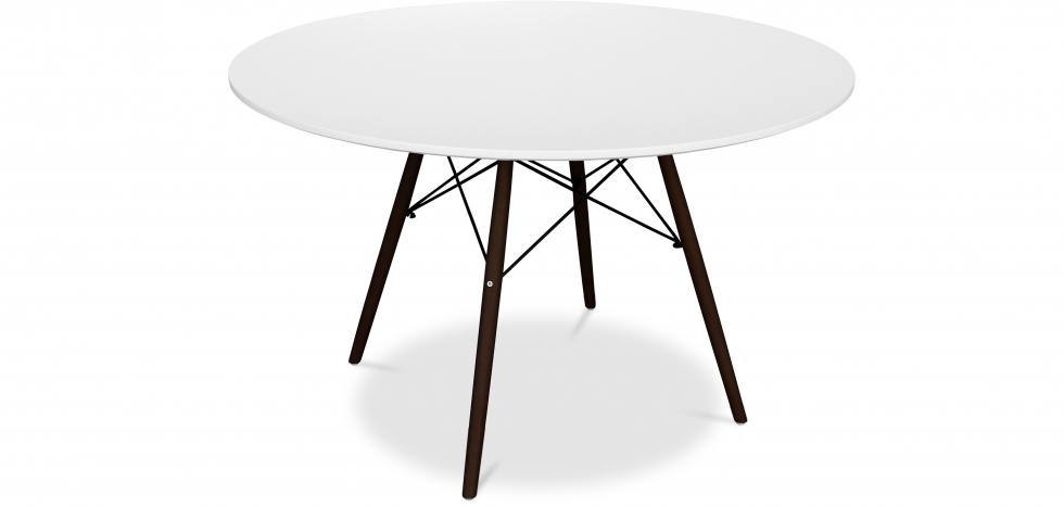 Buy Deswick dining table 120cm - Darwick legs White 59074 - in the EU