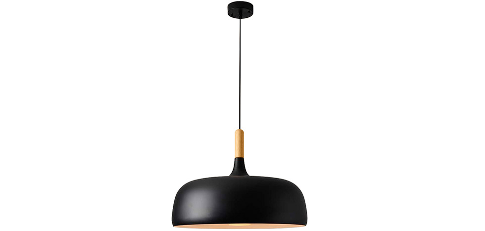 Buy Ceiling lamp in black metal and wood - Circus Black 59163 - in the EU